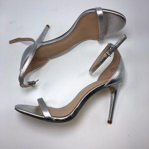 Rachel Zoe silver strappy Heel